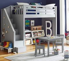 Bunk Bed Systems With Desk Stair Loft Bed Pottery Barn
