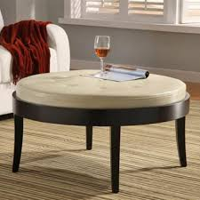 ottomans leather and wood coffee table leather coffee table with