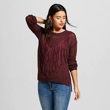 women u0027s faux suede fringe pullover sweater love first sight