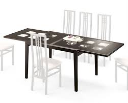 expandable dining table paloma w frosted glass top italy 33d102