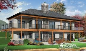 awesome lakefront house plans with walkout basement 18 pictures