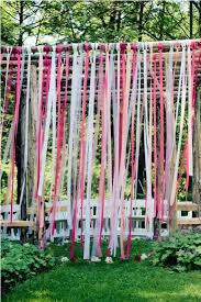 Wedding Backdrop Rustic Ribbon Ceremony Backdrop
