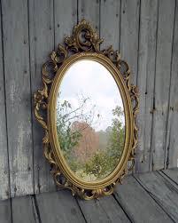 no wait even better vintage ornate mirror gilded gold oval