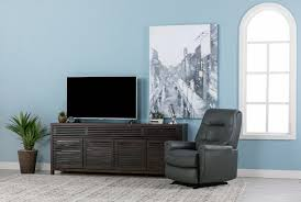 rogan leather grey power wallaway recliner living spaces