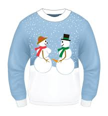 funny christmas sweaters for women ugly christmas snow couple