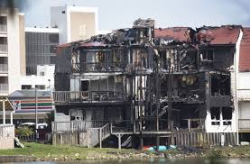 17 people displaced after 2 alarm fire at oceanfront condo