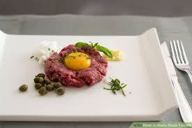 tartare cuisine how to steak tartare 9 steps with pictures wikihow