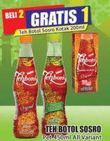 Teh Kotak Sosro 200 Ml Per Dus promo harga teh botol sosro minuman ringan terbaru minggu ini hemat id