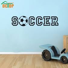 popular soccer wall decor buy cheap soccer wall decor lots from dctop soccer wall decoration sticker house decor art decals living room childrens party decoration china