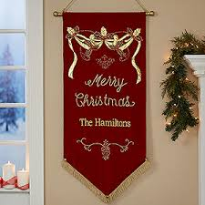 christmas personalized personalized merry christmas banner