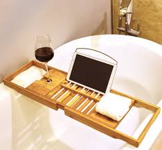 Wine Glass Holder For Bathtub Bamboo Bath Tray