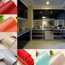 How To Cover Kitchen Cabinets With Vinyl Paper Details About Gloss Kitchen Cupboard Door Cover Sticker Self