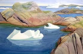 doris mccarthy icebergs among the islands 1995 watercolour