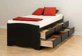 Platform Bed With Storage Drawers Diy by Twin Platform Bed With Storage Drawers And Headboard Bedroom Ideas