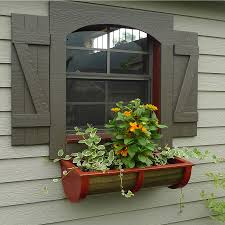 Wooden Window Flower Boxes - amish made painted wood round window flower box