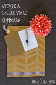 upcycle a dollar store clipboard twelveoeight