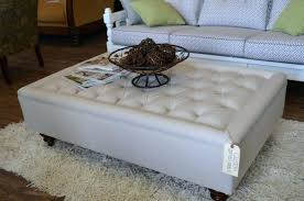 Leather Top Ottoman Leather Top Coffee Table Ottoman Laughingredhead Me