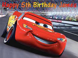 lightning mcqueen birthday cake disney cars lightning mcqueen a4 edible birthday cake topper