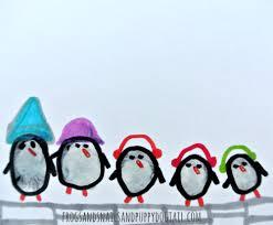 penguin family fingerprint art fspdt