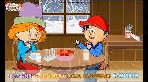 different seasons kindergarten preschool kids with quiz youtube