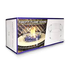 Linear Fire Pit by Linear Glass Flame Guard For Linear Drop In Fire Pit Pan