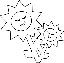 Coloring Page Sun Flower Sun Coloring Page Wecoloringpage by Coloring Page Sun