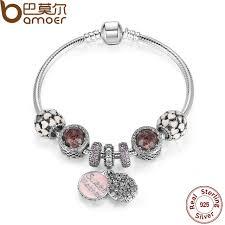 love charm bracelet images Bamoer 925 sterling silver sweet mother charm bracelet with jpg
