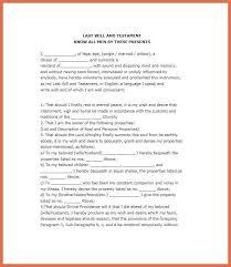 last will and testament sample bio example