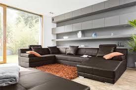 wohnzimmer wohnlandschaft wohnlandschaft braun für modernes design