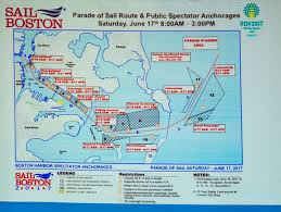Boston Harbor Map marathon like security on waterfront for june 17th tall ships