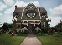 Spider Web Decoration For Halloween Art Eyes Creepy Design Halloween Diy Los Angeles House Creativity