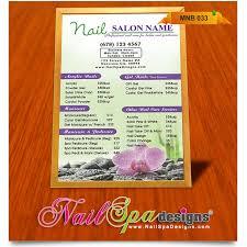 menu board template for nail salon visit www nailspadesigns com