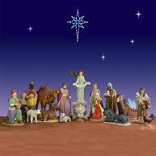 outdoor nativity sets painted christmasnightinc
