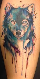 the 25 best watercolor wolf tattoo ideas on pinterest