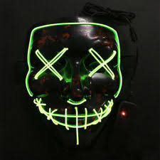 Led Halloween Costumes Halloween Costume Led Mask Purge Movie El Wire Dj Party