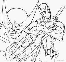wolverine coloring pages printable wolverine coloring pages for