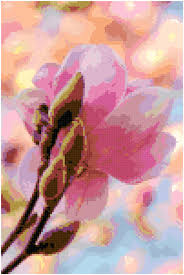 Home Decoration Pdf by Cross Stitch Japanese Pink Magnolia Pattern Design Chart Garden