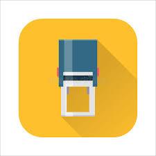 bureau om bureau om het pictogram de handster vector illustratie