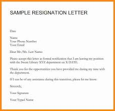 10 simple resignation letter with notice period musicre