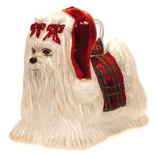 noble gems maltese ornament from dogstuff made from