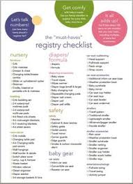 baby gift registry list new baby registry checklist free printable free printable