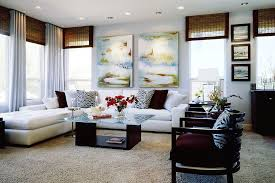 Beach Inspired Modern Family Room Before And After - Modern family rooms