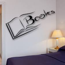 books wall decal reading room library science university