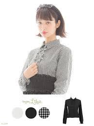 pretty blouses dreamv rakuten global market pretty plain or gingham ribbon