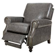 Grey Leather Recliner Home Decorators Collection Marco Grey Leather Recliner 9948500130