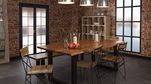 dining room furniture with organic edge industrial style chic decor