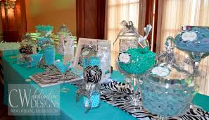 tiffany blue and zebra baby shower candy table brielle