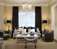 living room beige drapes modern curtain rod glass window wooden