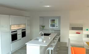 high white gloss handle less kitchen with glacier white mistral
