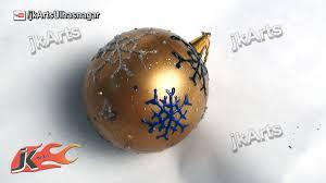 how to make christmas ball ornament with gems ball diy christmas